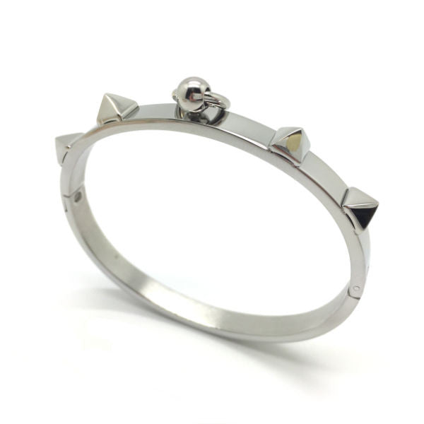 Spike Bangle Bracelet - Stainless Steel