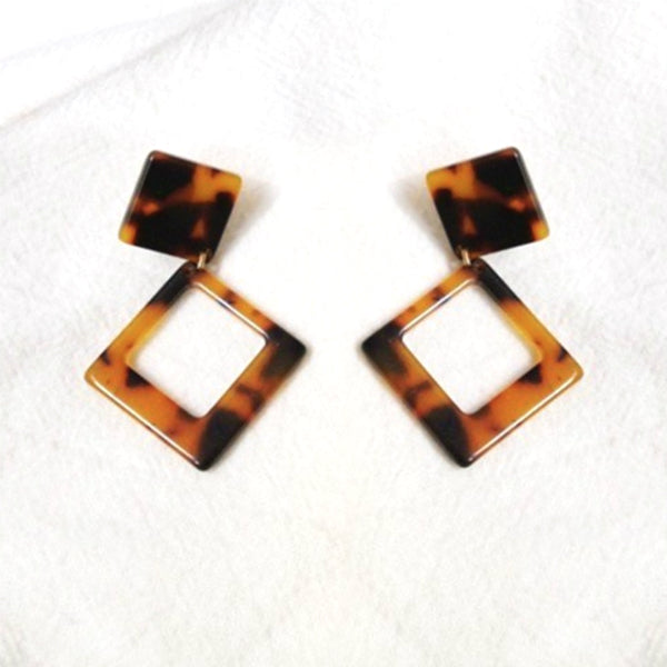 Square Tortoise Earrings