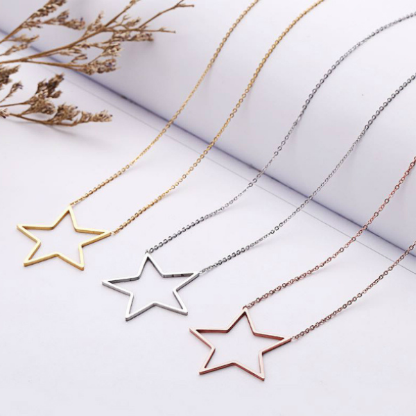 Star Dainty Necklace - Stainless Steel