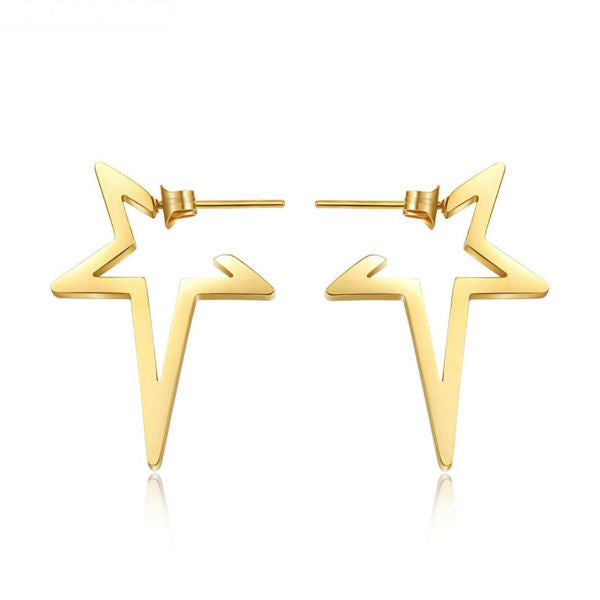 Star Earrings - Stainless Steel