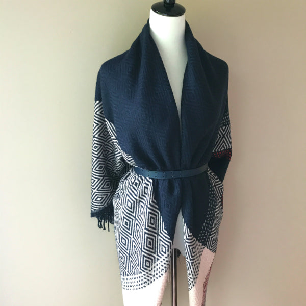 """Style me up"" Scarf - Navy and Pink"