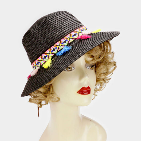 Sun Hat w/ Short Brim - Black