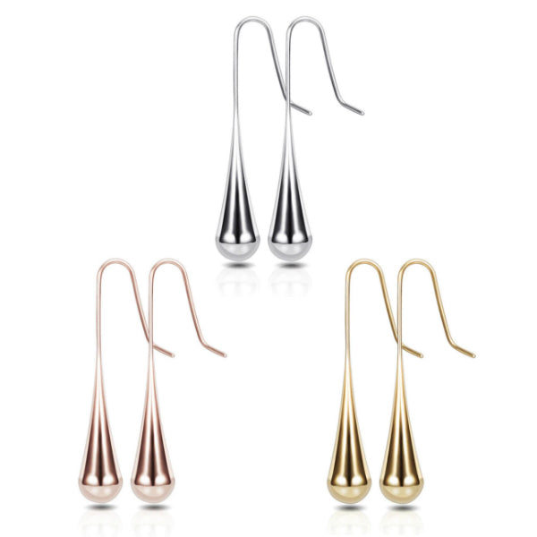 Teardrop Earrings - Stainless Steel