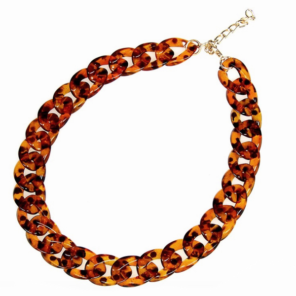 Tortoise Chunky Statement Necklace