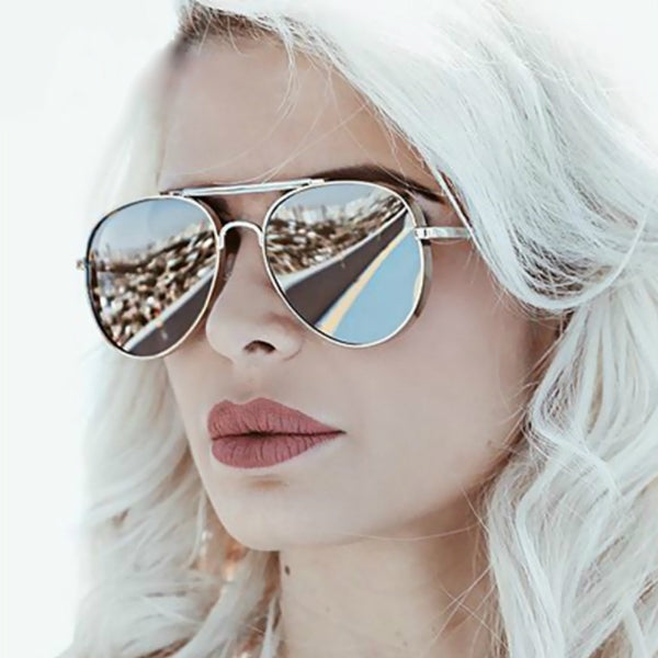 Turin Sunglasses - Black & Silver