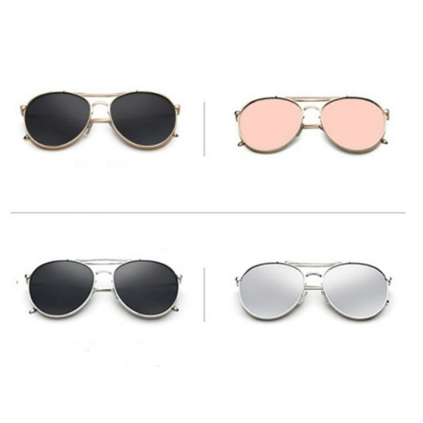 Turin Sunglasses - Rose Gold Mirror