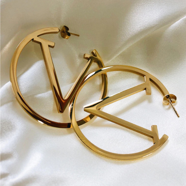 Victoria Hoop Earrings - Stainless Steel