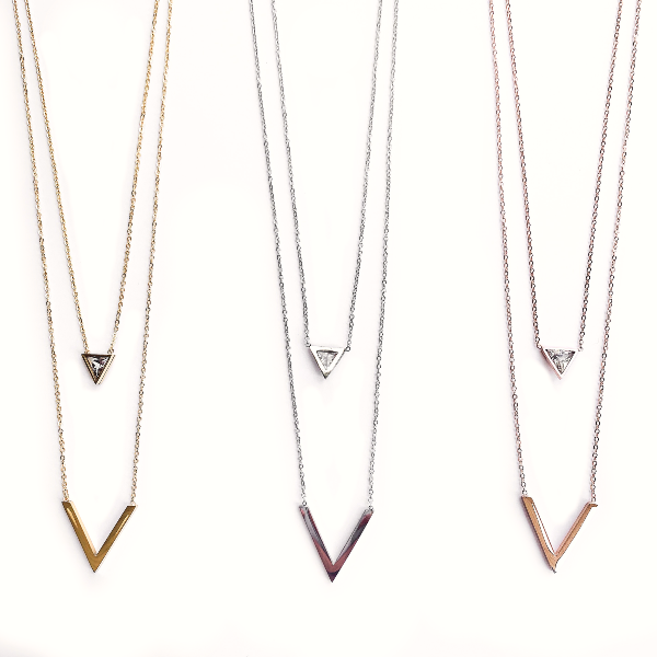Vida Layered Dainty Necklace - Stainless Steel
