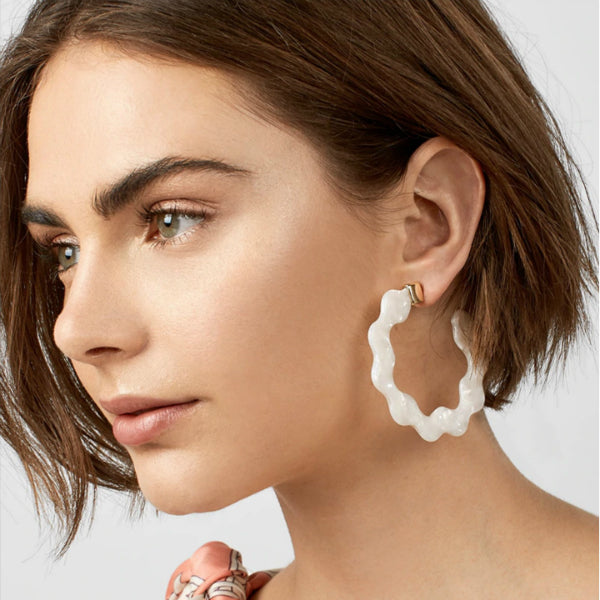 Wavy Resin Hoop Earrings