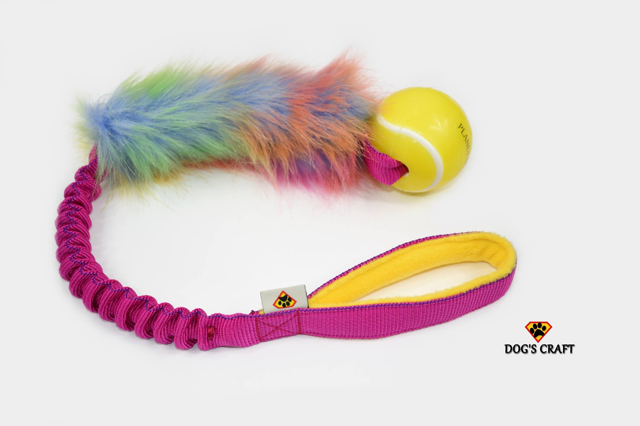 Unicorn fur w/- Planet Dog tennis ball bungee tug