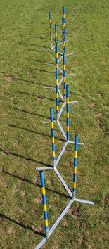 Portable Channel weaves - 12 pole metal base