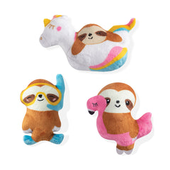 Fringe Studio Summer Sloths 3-Piece Small Dog Toy