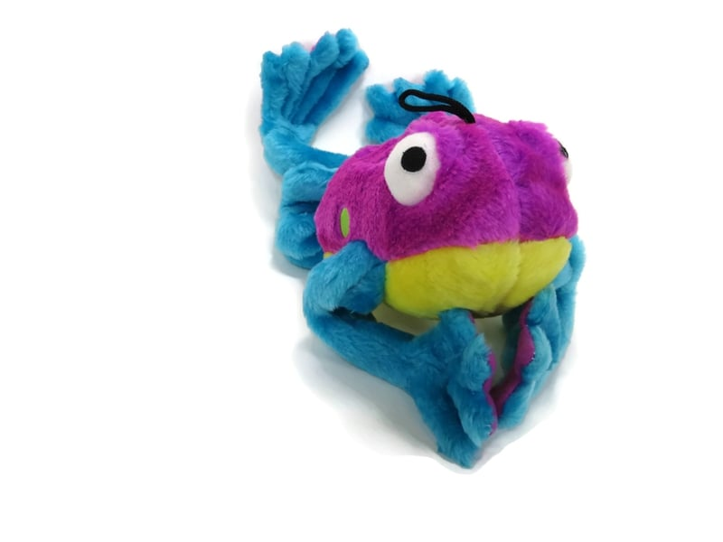 GoDog Soft Toys with Chew Guard Technology -  Amphibianz Tree Frog