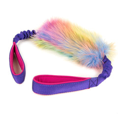 Double handled Unicorn fur bungee tug