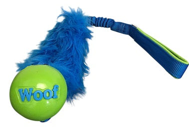 Planet Dog Orbee Tuff Woof Ball with Faux Fur and Bungee Tug toy