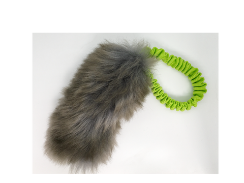 Sheep Fur bungee tug with Squeaker