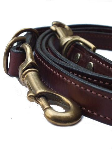 Mendota Multi-use Leather double Snap Dog Lead