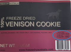 Freeze Dried 100% Venison Cookie