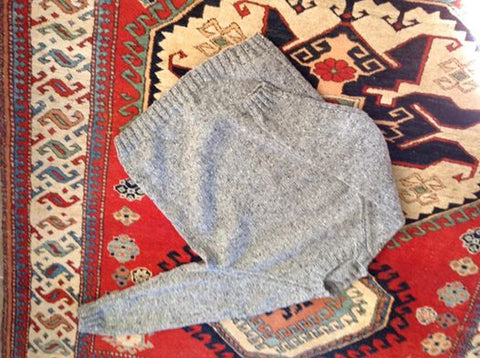 Jumper made with Silk Road Aran Tweed