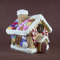 Frankie Brown Knitted Gingerbread House