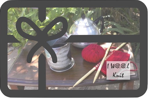 I Wool Knit gift card