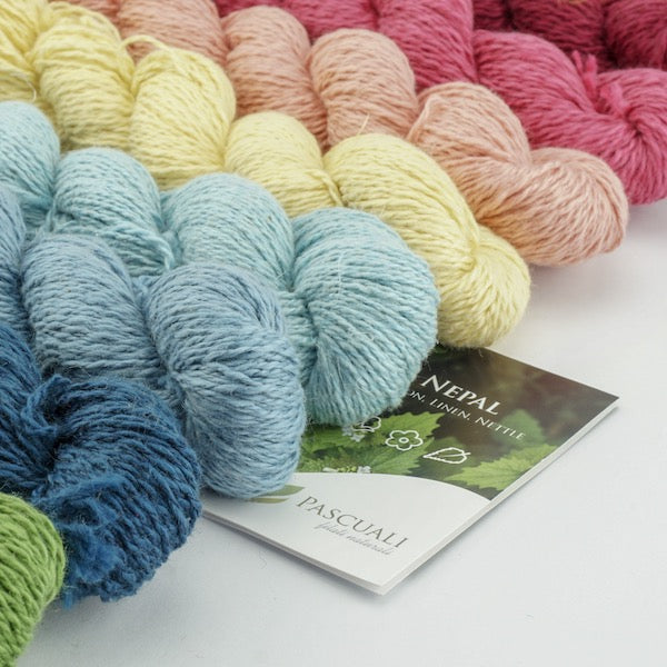 Pascuali Nepal. Knitting yarn made from cotton, linen and nettle. I Wool Knit