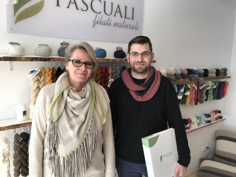 Paul Pascuali and Andrea Trömpert at Pascuali Filati offices in Cologne, Germany