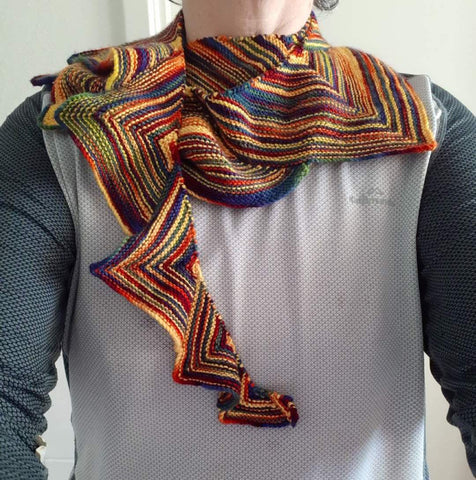 Wollmeise yarn shawl