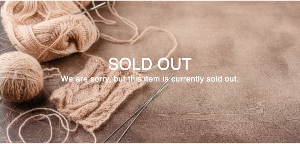 Item is now sold out