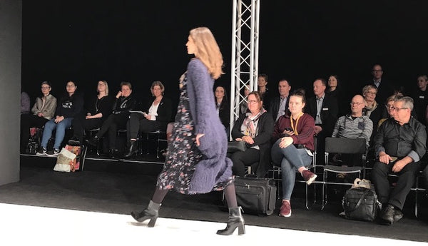 fluffy long coat - h+h Cologne fashion show 2018
