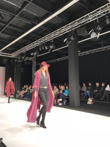 long shawl at h+h Cologne fashion show