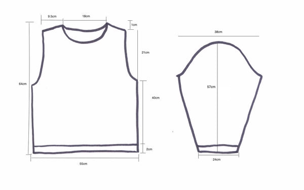 Pattern diagram for jumper - I Wool Knit