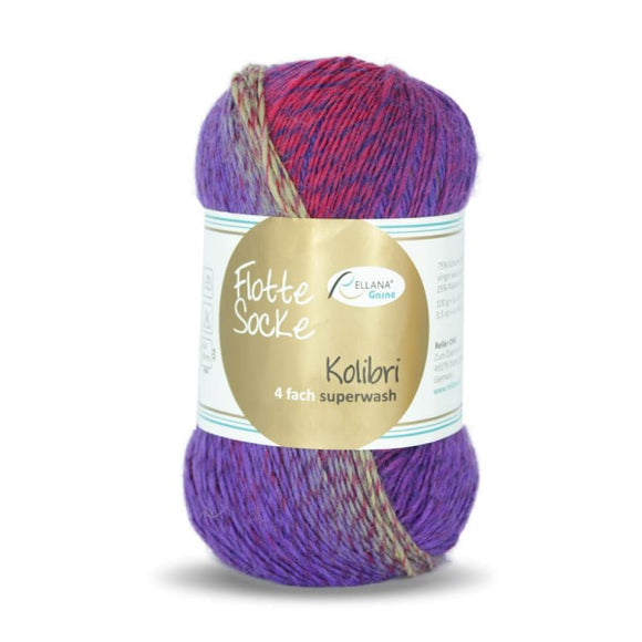 Rellana Flotte Socke Kolibri 6202, sock yarn, 4ply, 100g - I Wool Knit