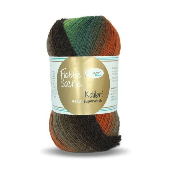 Rellana Flotte Socke Kolibri 6206, sock yarn, 4ply, 100g - I Wool Knit