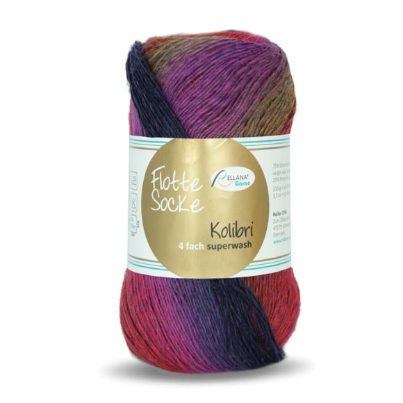 Rellana Flotte Socke Kolibri 6213, sock yarn, 4ply, 100g - I Wool Knit