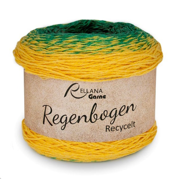 Rellana Regenbogen Recycled 1305 Ivy, 100g yarn cake - I Wool Knit