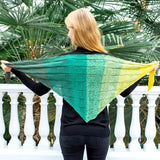 Shawl in Regenbogen Recycled - Rellana Knit Kit - I Wool Knit