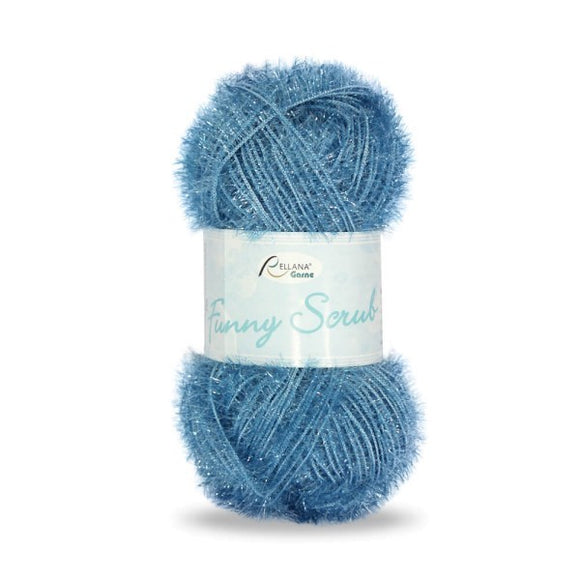 Rellana Funny Scrub 012 medium blue, 50g - I Wool Knit