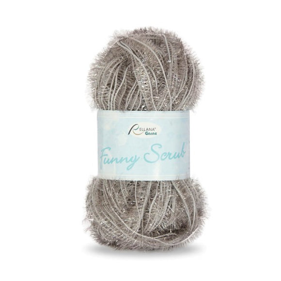 Rellana Funny Scrub 014 light grey, 50g - I Wool Knit