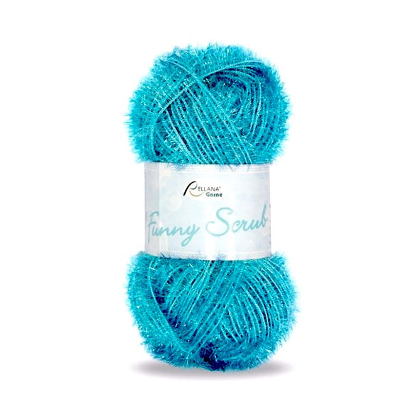 Rellana Funny Scrub 030 turquoise, 50g - I Wool Knit