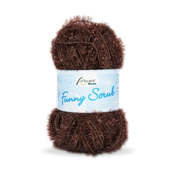 Rellana Funny Scrub 006 brown, 50g - I Wool Knit