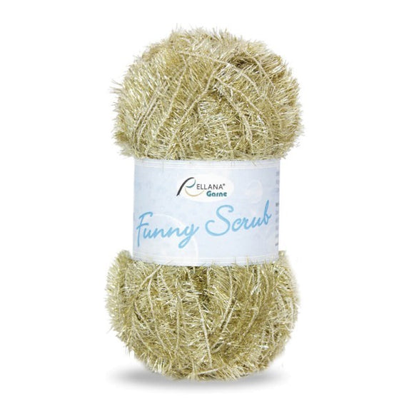 Rellana Funny Scrub 090 gold, 50g - I Wool Knit