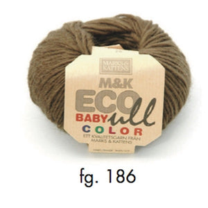 Marks & Katten, M&K Eco-Baby Ull Color 186, moss green, eco-yarn, wool and Merino, 4-6ply, 25g - I Wool Knit