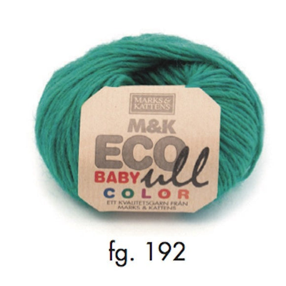 Marks & Katten, M&K Eco-Baby Ull Color 192, bright green, eco-yarn, wool and Merino, 4-6ply, 25g - I Wool Knit