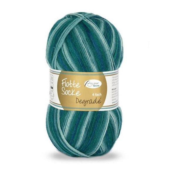 Rellana Flotte Socke Dégradé 1462, 4ply sock yarn, 100g - I Wool Knit