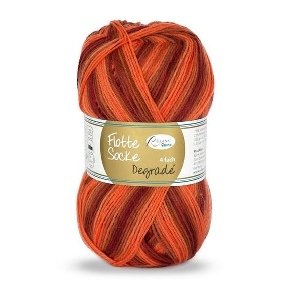 Rellana Flotte Socke Dégradé 1464, 4ply sock yarn, 100g - I Wool Knit