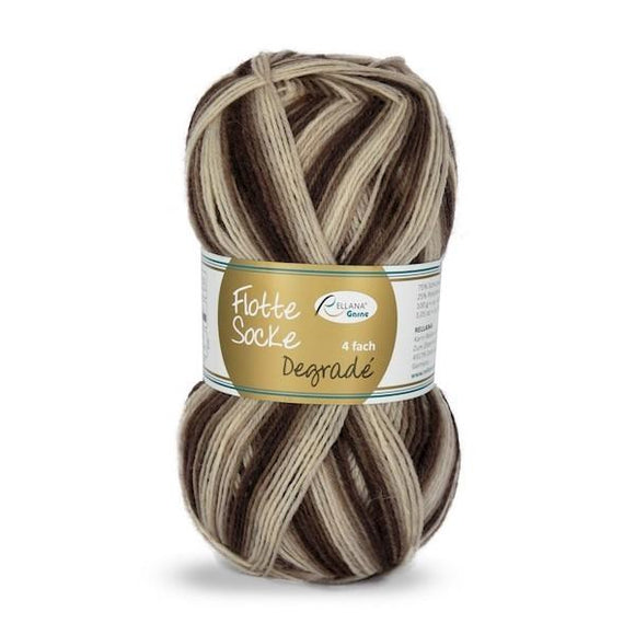 Rellana Flotte Socke Dégradé 1465, 4ply sock yarn, 100g - I Wool Knit