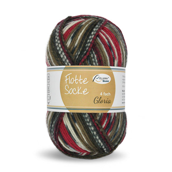 Rellana Flotte Socke Gloria 1560, 4ply sock yarn, 100g - I Wool Knit