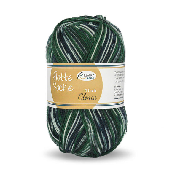 Rellana Flotte Socke Gloria 1561, 4ply sock yarn, 100g - I Wool Knit
