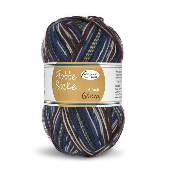 Rellana Flotte Socke Gloria 1563, 4ply sock yarn, 100g - I Wool Knit